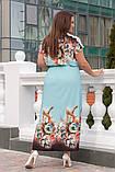 Нарядное женское платье в пол,ткань: шёлк+ кружево,размеры 52,54,56,58., фото 3