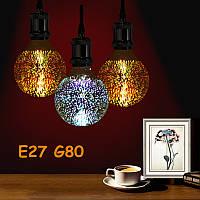 Лампа светодиодная декоративная ВТВ 3D Фейерверк G80 E27 LED ночник