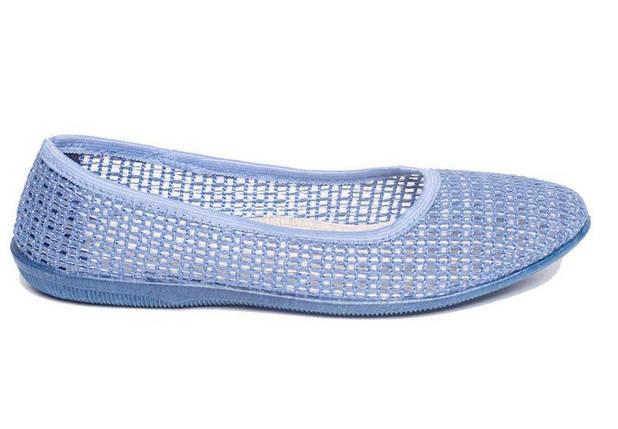 Балетки текстиль OLDCOM женские Сетка голубые, фото 2