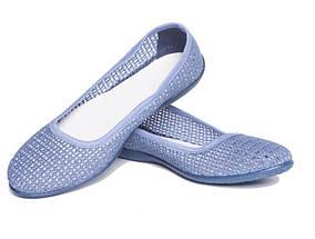 Балетки текстиль OLDCOM женские Сетка голубые, фото 3