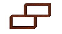 Полиця на стіну дворівнева Яблуня Локарно 1000х694х250мм