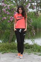 Спортивный костюм с персиковой футболкой