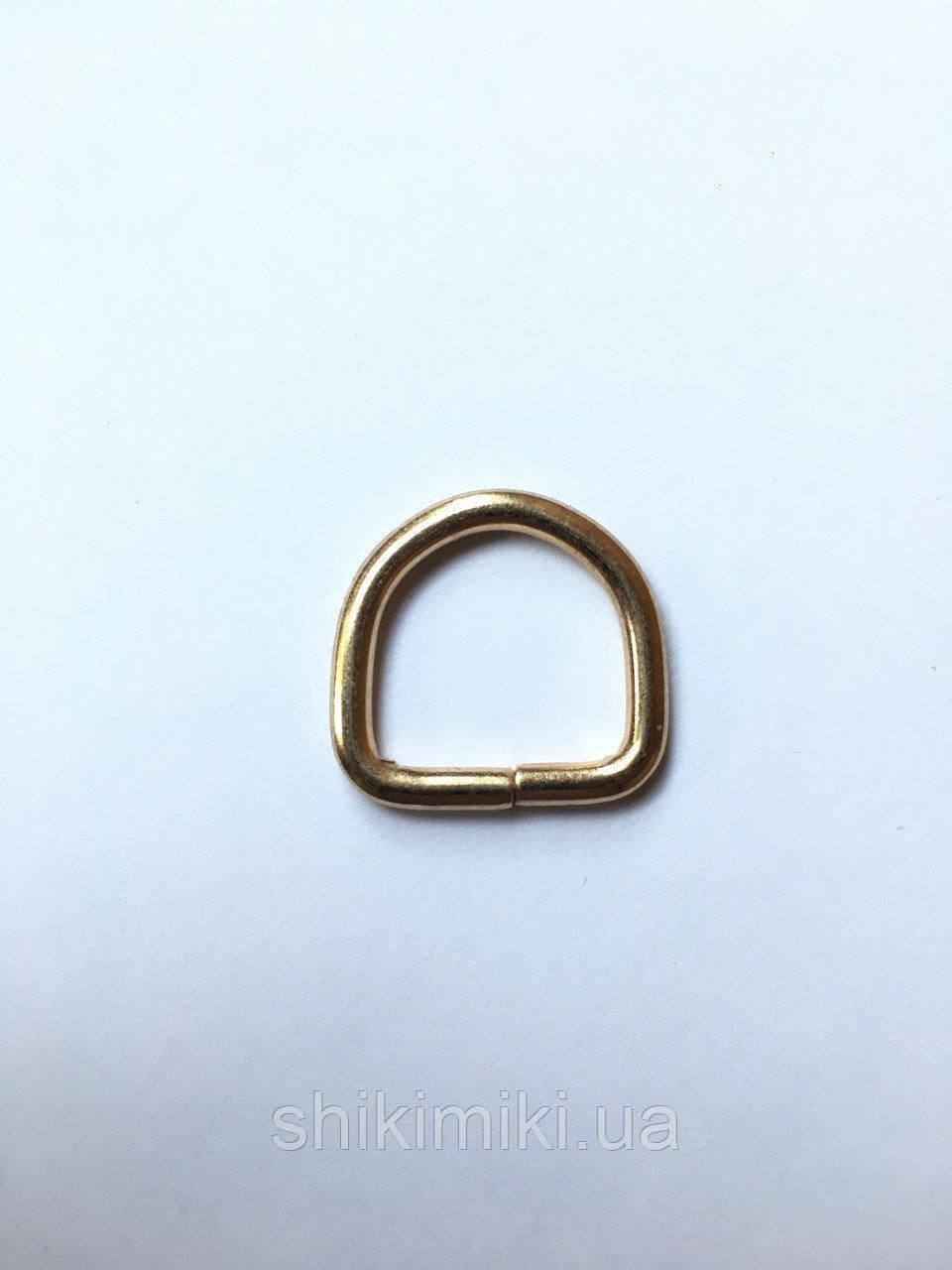 Полукольцо для сумки PK09-3 (15 мм), цвет золото
