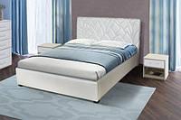 Кровать Лотос с мягким изголовьем белая