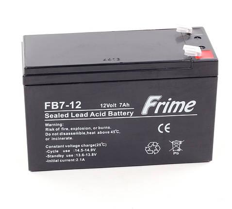 Аккумулятор Frime 12V / 7Ah для детских электромобилей, фото 2