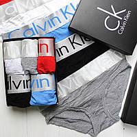 Женские трусики слипы брифы плавочки брендовые в подарочной упаковке на широкой серой резинке модал 5шт