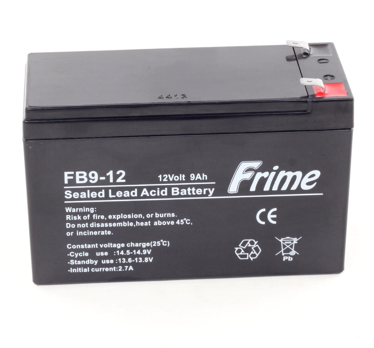 Аккумулятор Frime 12V / 9Ah для детских электромобилей