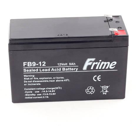 Аккумулятор Frime 12V / 9Ah для детских электромобилей, фото 2