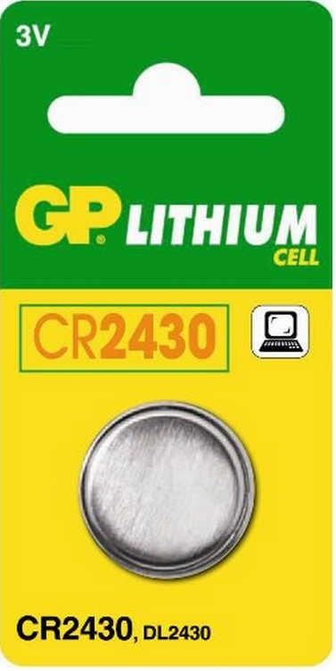 Батарейка диск. GP CR2430-U5 Lithium CR2430, 3V