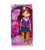 """Кукла """"Angela Baby"""" (в джинсовом комбинезоне)"""