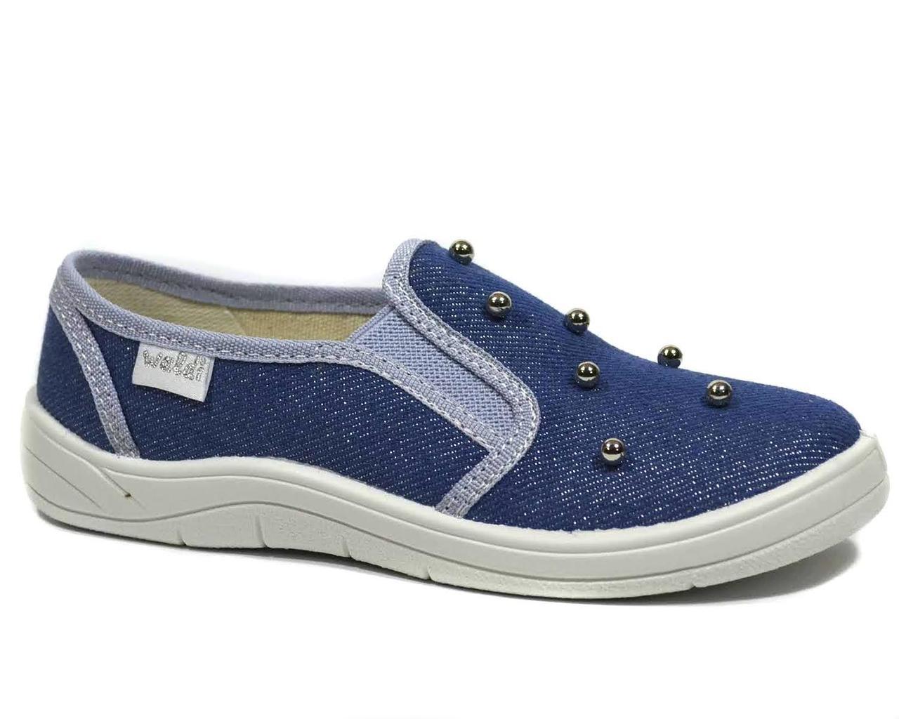 Сліпони WALDI арт.376-757 Віка перлинки, синій, Синий, 30, 19.0