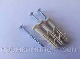 Дюбель - гвоздь быстрого монтажа 6* 40 (100 шт.) полиэтиленовый (потай) Apro
