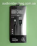 Кабель USB Lightning для Apple iPhone для швидкої зарядки, 3.1 А, довжина 1 м, фото 2