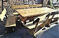 Мебель из натурального дерева для кафе, комплект деревянный 1500*800