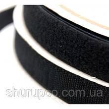 Липучка текстильная 100 мм черная (25 м/боб)