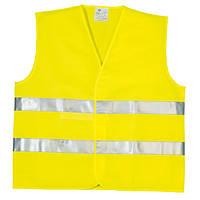 Жилет сигнальный светоотражающий желтый, 2 класс