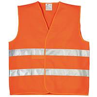 Жилет светоотражающий дорожный оранжевый, 2 класс