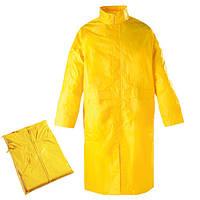 Плащ влагостойкий, ПВХ с полиамидом желтый. Размер: XXXL(60-62)