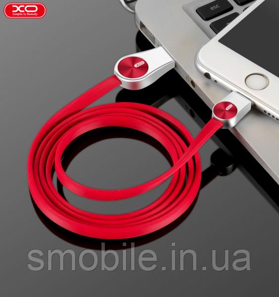 XO Lightning кабель зарядки и синхронизации XO NB45 CD Grain Zinc Alloy для iPhone iPad iPod красный (1000 мм)