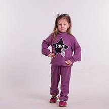 Детский прогулочный костюм из трикотажа для девочкиСпортивный костюм на девочку, фото 3