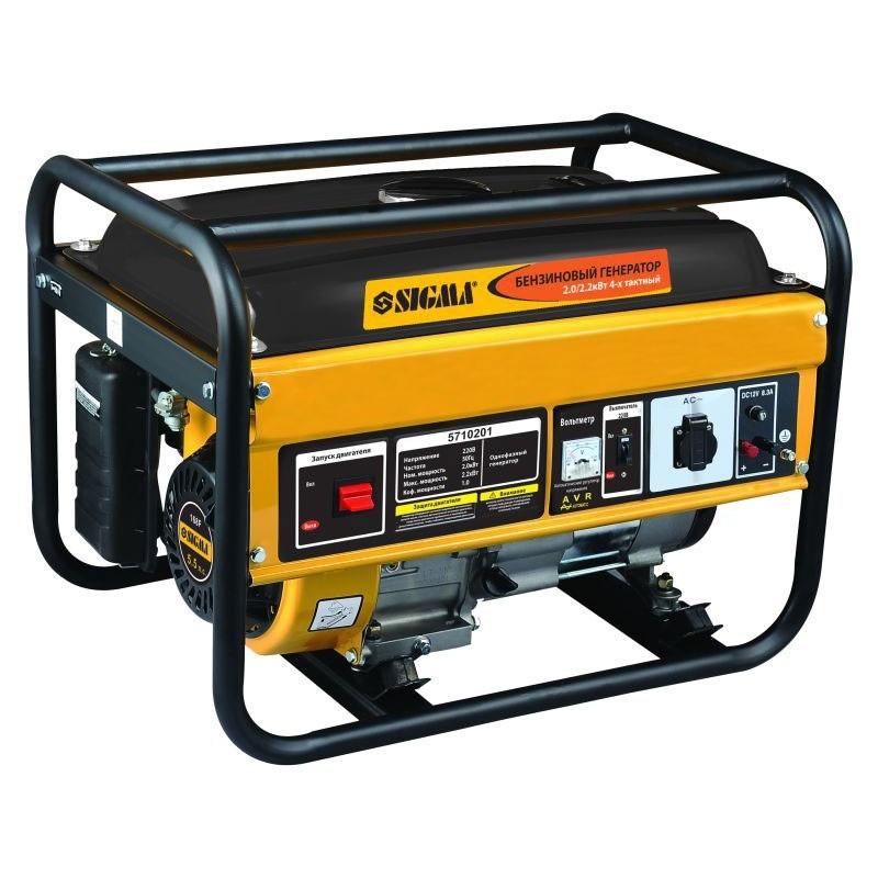 Генератор бензиновий Sigma 2.0/2.2 кВт 4-х тактний, ручний запуск