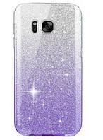 Силиконовый чехол градиент блеск для Samsung Galaxy M10, фото 1