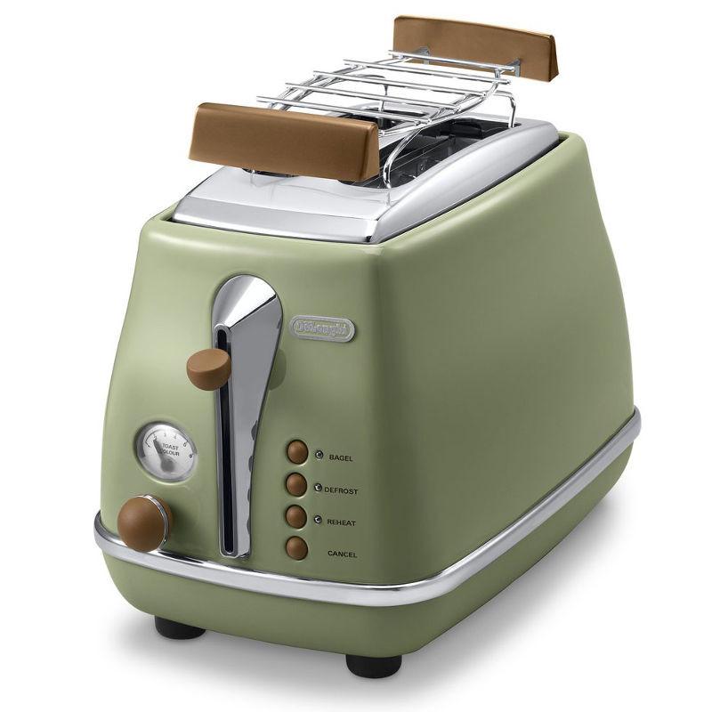 Тостер DeLonghi CTOV 2103 GR Icona Vintage