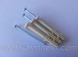 Дюбель - гвоздь быстрого монтажа 6* 60 (100 шт.) полиэтиленовый (грибок) Apro