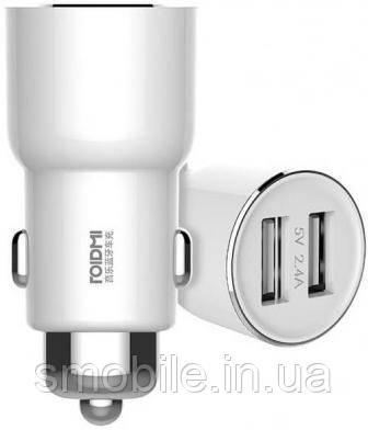 Xiaomi Автомобильный FM-трансмиттер Xiaomi Roidmi 3S Bluetooth на 2 USB (BFQ04RM) белый