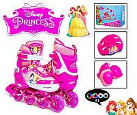 Комплект роликов Disney. Princess. р.29-33 и 34-37. Все колеса светятся!