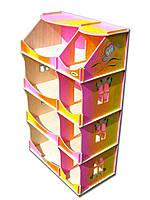 Кукольный домик-шкаф радужный с росписью, фото 1