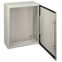 Шкаф металлический навесной 600х400х250 с монтажной платой ip66 Schneider Electric NSYCRN64250P