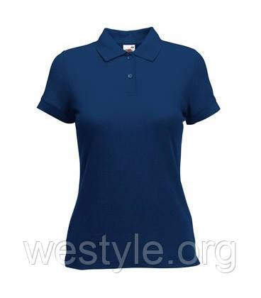 Тенниска Поло с полиестром женская - 63212-32 темно-синяя