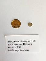 Магнит низкая цена Ø D7 mm х H2 mm