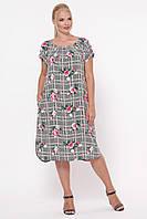 Платье летнее женское Палитра клетка, фото 1