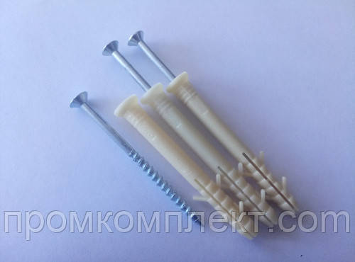 Дюбель - гвоздь быстрого монтажа 6* 60 (100 шт.) полиэтиленовый (потай) Apro