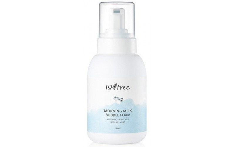 Очищающая молочная пенка для лица ISNTREE Morning Milk Bubble Foam