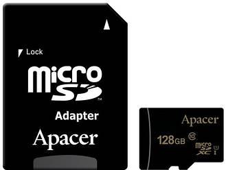 Карта памяти APACER microSDXC 128GB UHS-I U1+adapter