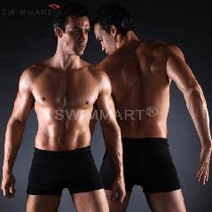 Плавки мужские купальные, трусы-боксеры для бассейна, пляжа черный