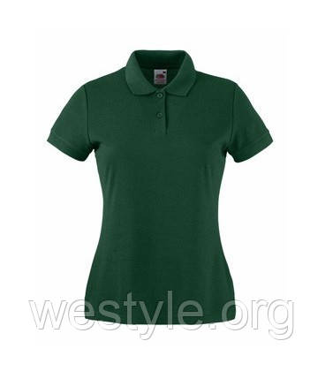 Тенниска Поло с полиестром женская - 63212-38 темно-зеленая