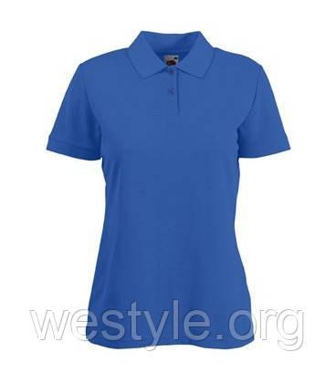 Тенниска Поло с полиестром женская - 63212-51 ярко-синяя