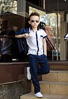 Костюм трійка для хлопчика класика трійка штани, піджак і сорочка