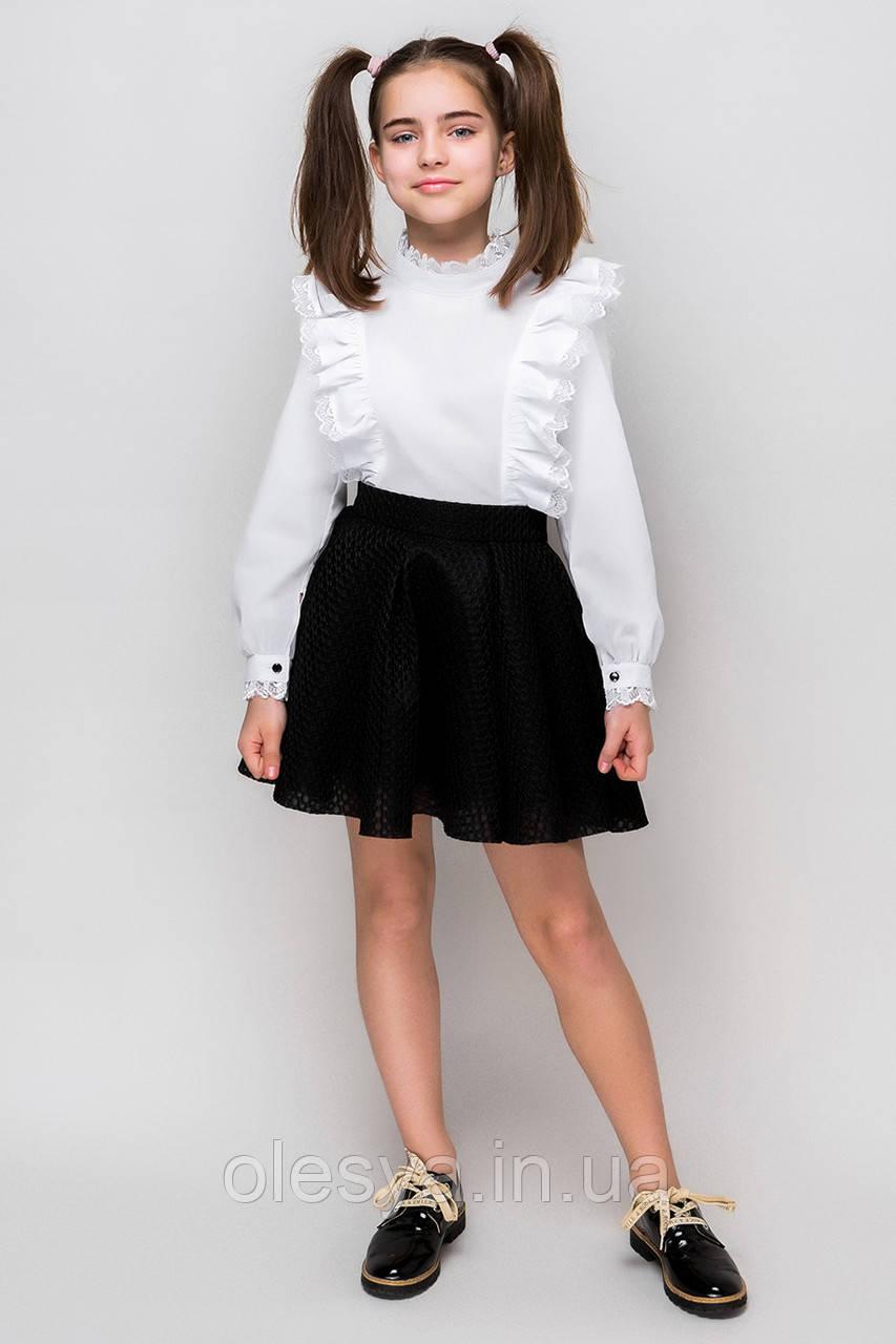 Блуза школьная с длинным рукавом Тм Barbarris SH-74 Размеры 134- 158 Новинка
