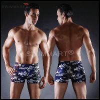 Плавки мужские купальные, трусы-боксеры для бассейна, пляжа (разные цвета), фото 1