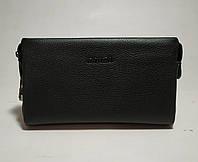 Клатч кожаный  PRADA 1129-1  с кодовым замком черный