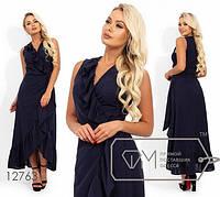 Платье из льна на запах с оборкой с 42 по 48 размер, фото 1
