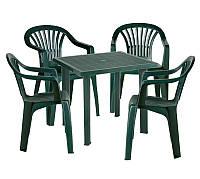 Комплект садовый Fiocco + 4 стула Altea зеленый
