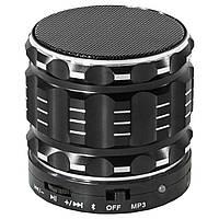Портативная Bluetooth-колонка Lesko BL S-28 для прослушивания музыки черная с микрофоном поддержка microSD