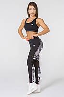 Женский спортивный костюм для фитнеса Radical Fierce L Черно-серый (r0183)