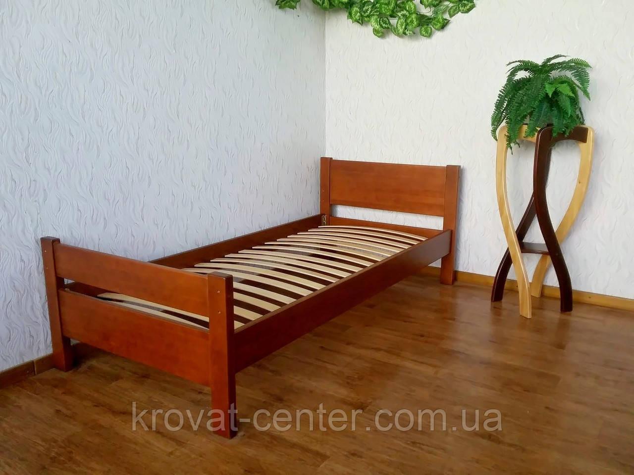 """Односпальная деревянная кровать с изножьем """"Эконом"""" от производителя"""